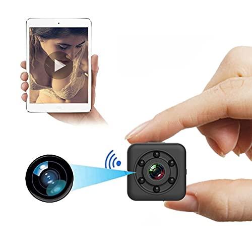Enzeno Mini Spy Camera Hidden WiFi Wireless Small Video Camera Full HD 1080P Nanny Cam Night Vision Secret Surveillance Cameras with Waterproof Case, Compact Indoor/Outdoor Video Recorder with Audio