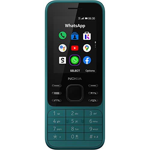 Nokia 6300 Telefono Cellulare 4G Dual Sim, Display 2.4' a Colori, 4GB, Bluetooth, Fotocamera, Whatsapp, Ciano [Italia]