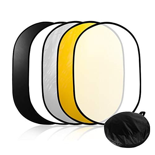 LimoStudio 24quotx36quot Photo Video Studio Multi Collapsible Disc Lighting Reflector 5in1 AGG1266