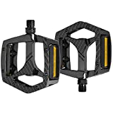 """SYDIXON Mountain Bike Pedals, Road Bike Pedals Non-Slip 9/16""""Aluminum Alloy Platform Pedals, Sealed Bearing Bicycles Platform Flat Pedals for Road Mountain MTB MBX Bike"""