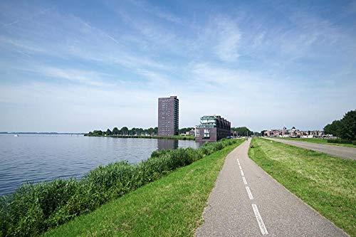 MX-XXUOUO Een legpuzzels met het thema van wereldtoeristische attracties-Nederland Almere City, provincie Flevoland Coast Grass, Speciale reissouvenirs, 1000 stuks,29.5x19.7