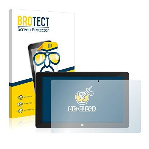 BROTECT Schutzfolie kompatibel mit TrekStor SurfTab Duo W3 (2 Stück) klare Bildschirmschutz-Folie
