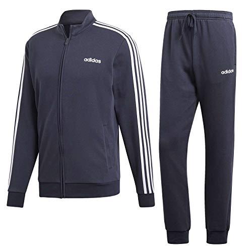 Adidas Tracksuit Cotton Relax, Tuta Uomo, Legend Ink/Legend Ink/Bianco, S