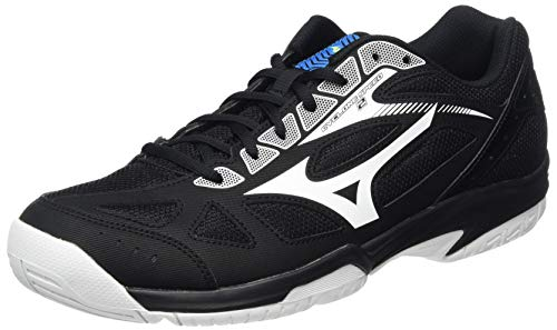 Mizuno Cyclone Speed 2, Zapatillas de vóleibol Unisex Adulto, Negro/Blanco/Azul Diva, 42 EU