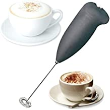 WOQZILINE Handheld Battery Operated Electric Foam Maker Classic Sleek Design Hand Blender Mixer Froth Whisker Latte Maker for Milk, Coffee, Egg, Juice, Espresso, Cappuccino, Lassi (Multi Colour)