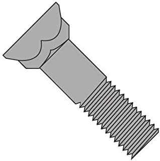 5//8-11 x 1 3//4 Coarse Thread Grade 5 Plow Bolt #3 Flat Head Medium Carbon Steel Black Oxide Pk 25