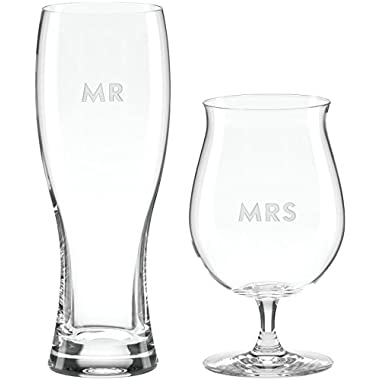 kate spade new york Darling Point Mr. & Mrs. 2-piece Beer Glass Set