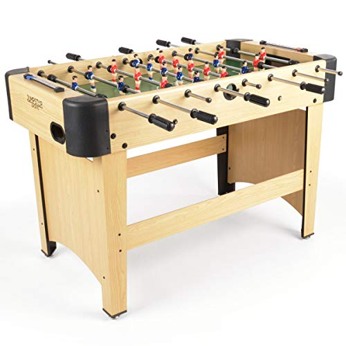 JUMPSTAR SPORTS 4ft Free Standing Football Table, Indoor Fussball Soccer Game, Smart Pine Laminate Finish, Kids Family Games Room Fun