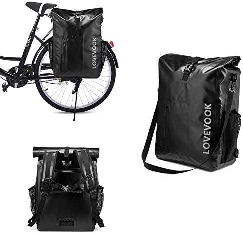 LOVEVOOK 3 in 1 Bike Rack Bag Pannier Waterproof Bicycle Panniers Rear Rack Trunks Bags for product image