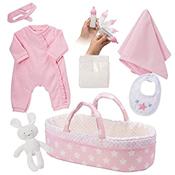 Adora Adoption Baby Essentials It s A Girl 16 Girl Clothing Toy Gift Set for 3 Year Old Kids & Up 8 Piece Its a Girl