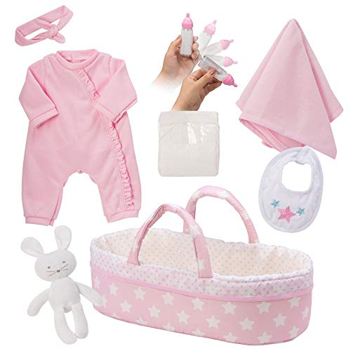 Adora Adoption Baby Essentials It's A Girl 16 Girl Clothing Toy Gift Set for 3 Year Old Kids & Up, 8 Piece Its a Girl