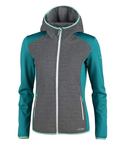 High Colorado OBERECK-L - Giacca da donna con zip, strato intermedio, maglia Powerstretch