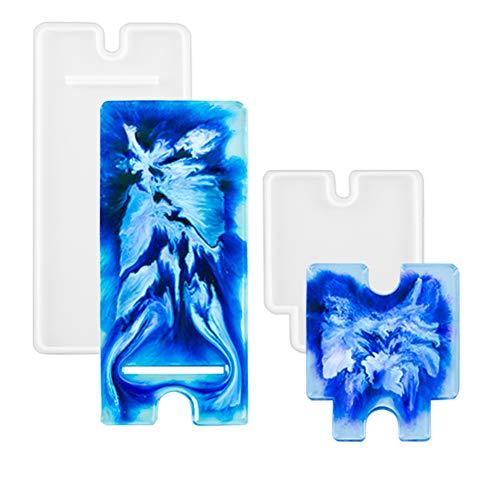 Keyzone Epoxidharz Form Handy-Ständer Set Handyhalterung Gießen Epoxidharzform für DIY Telefonhalterung Basteln
