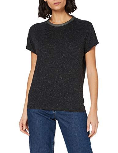 G-STAR RAW Neppy Straight Camiseta, Dk Black C535-6484, M para Mujer