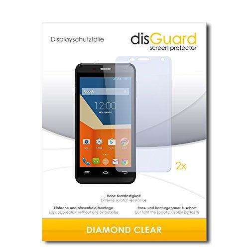 disGuard 2 x Bildschirmschutzfolie Gigabyte GSmart Essence Schutzfolie Folie DiamondClear unsichtbar