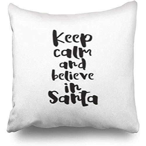 GodYo Kussensloop, 1 stuks, kerstborstel, winter, kalligrafie, abstracte feestdagen, element, kussensloop, sofa, schattig