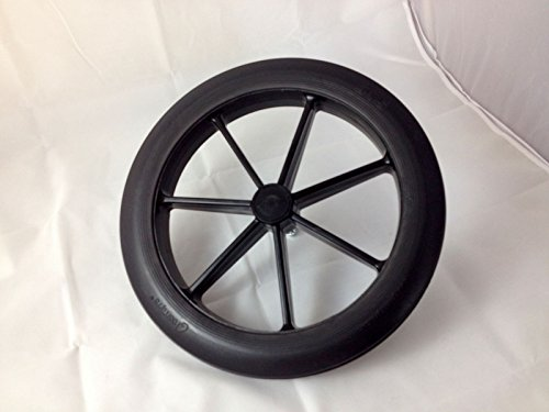 Black 315mm Rear Wheel & Tyre for NHS Style Wheelchair 12 1/2'