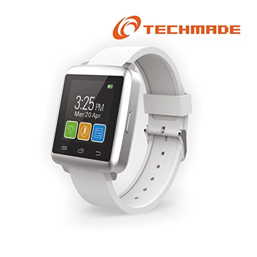 TECHMADE Smartwatch M2 Mini con Display 1.44 colore Bianco/Rosa con Bluetooth per Android e iOS
