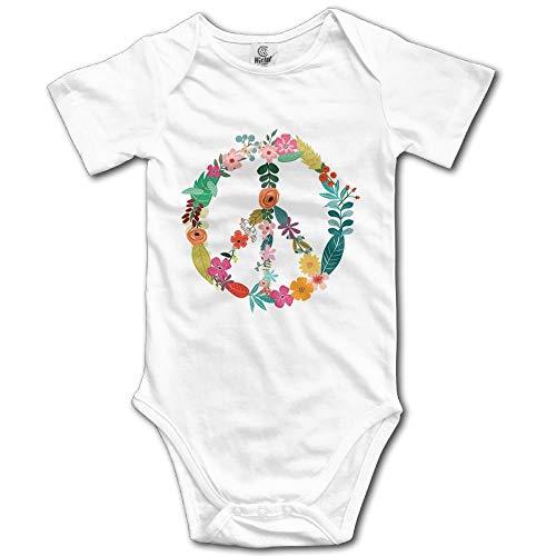 FAVIBES Signo de la Paz Flor Unisex Bebé OneSize Ropa Linda para recién Nacidos Trajes únicos para bebés Ropa Suave para bebés Talla 6M