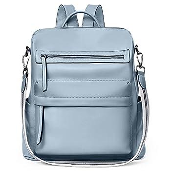 BROMEN Backpack Purse for Women Fashion Leather Designer Travel Large Ladies Shoulder Bags Blue