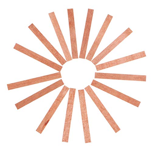 HEALLILY 20 Piezas de Mechas de Vela de Madera sin Humo Mecha de Madera Natural Fabricación de Velas Suministros para Hacer Velas DIY