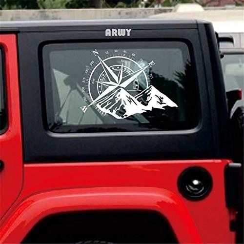 ARWY Universal Car Sticker Compass Totem White Hood Compass Decal Auto Vinyl Bonnet Sticker 35x29 cm