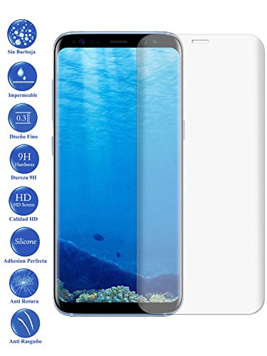 Todotumovil Protector de Pantalla Samsung S8 Plus Transparente Completo 3D Cristal Templado...