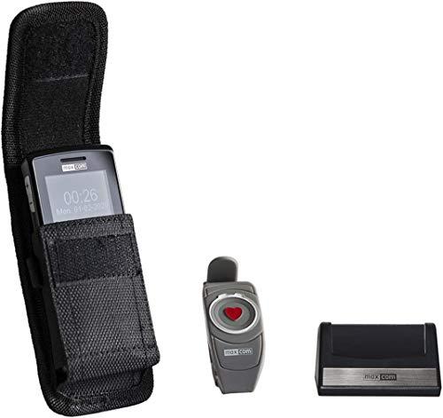 Maxcom MM715BB: Seniorenhandy mit Notrufarmband inklusive Handyhülle; Notrufhandy ohne Vertrag mit wasserdichtem Funk Armbandsender; Großtastenhandy
