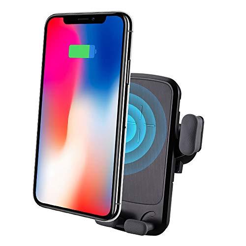 QI kabellose Ladebuchse Halterung frei einstellbar Richtung Autotelefonhalter kompatibel mit Smartphone mit kabelloser Ladefunktion