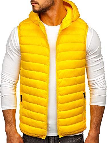BOLF Gilet Trapuntato con Cappuccio da Uomo J.Style LY36 Yellow M [1U1]