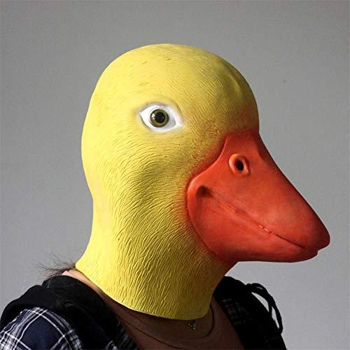 Entenmaske Für Erwachsene, Latexmaske, Gelb, Für Halloween Weihnachtsfeier