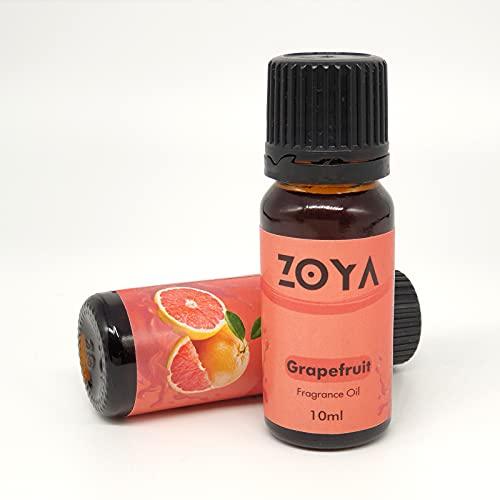 Zoya Difusor Aceite Difusor de Aroma Difusor de Aroma Humidificador, Difusor de Cañas, Pot Pourri, Cera Derretida, Bomba de Baño y Fabricación de Velas, 10 ml (Pomelo)
