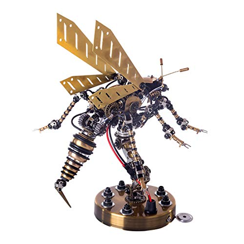 FADY 3D Metall Puzzle Mit Sound Control Light, DIY Metal Modell Puzzles Kit Konstruktionsspielzeug für Erwachsene und Kinder - Wespe