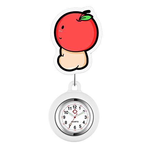 dihui Reloj de Enfermera de Silicona,Reloj de Enfermera retráctil, Lindo Reloj de Silicona para Reloj de Pecho de Enfermera-Guo Guo,Enfermera Reloj