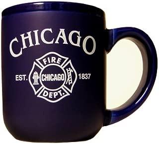 Chicago Fire Department Mug, Chicago mug, chicago glassware, chicago coffee mug