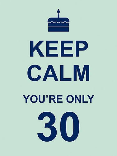 Keep Calm You\'re Only 30