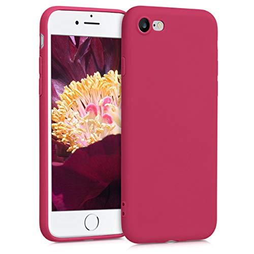 kwmobile Custodia Compatibile con Apple iPhone 7/8 / SE (2020) - Cover in Silicone TPU - Back Case per Smartphone - Protezione Gommata Rosso Melograno