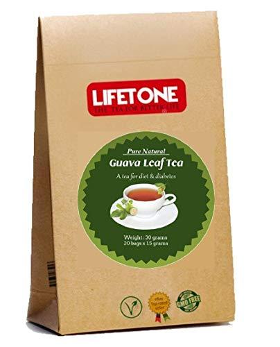 Té de hoja de guayaba, pérdida rápida de peso, té de desintoxicación potente, 20 bolsitas de té