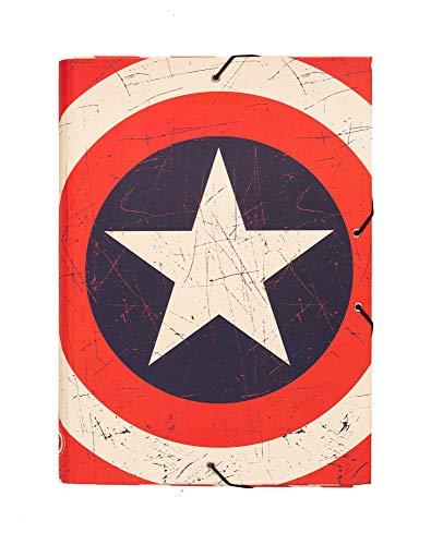 Grupo Erik Editores Carpeta Solapas Marvel Captain America Shield