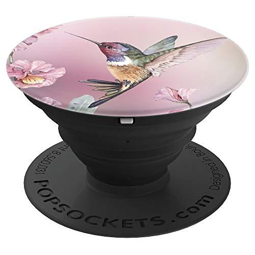 Pink Hummingbird Flower Pop Sockets Grip Stand PopSockets Grip and Stand for Phones and Tablets