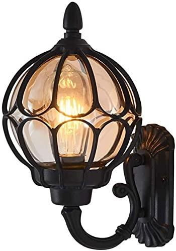 Ilustración de la Pared de la Pared al Aire Libre Impermeable Europea Victoria Retro Retro Creatividad a Prueba de Lluvia Lámpara de Linterna de Pared Externa Luz Exterior del Porche