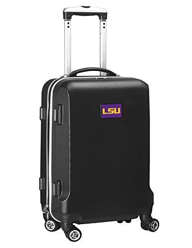 Denco NCAA LSU Tigers Carry-On Hardcase Luggage Spinner, Black