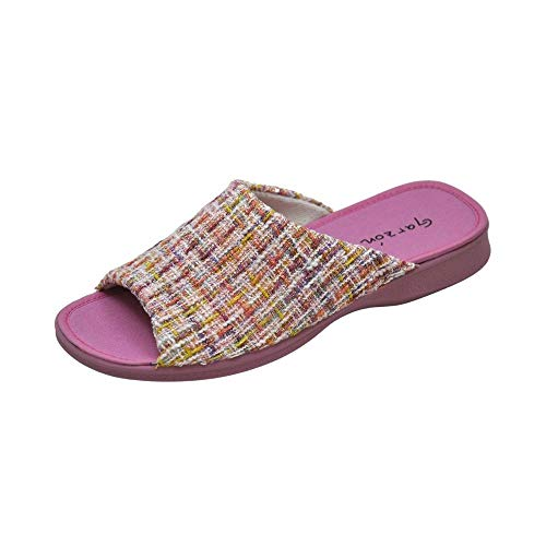 Garzon - Zapatilla CASA para: Mujer 2530 Verano Slippers Pantuflas Comodo Tela Talla: 39