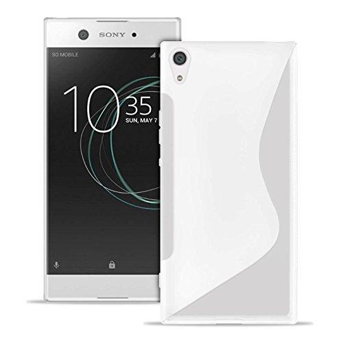 Custodia S-Line per Sony Xperia XA1 Ultra in Bianco | Borsa Tinta Unita | Dunn