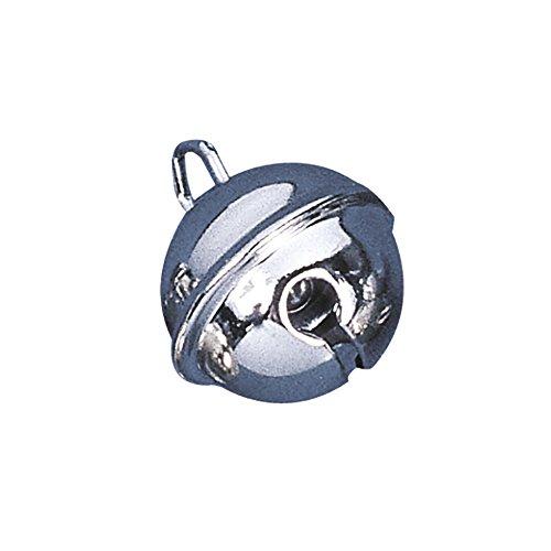 RAYHER 2503321 Metallglöckchen, kugelförmig, SB-Btl, 10 Stück, platin, 19 mm Durchmesser