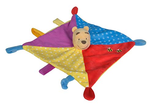 Simba- Disney Winnie The Puuh 3D Schmusetuch, Color Doudou l'ourson Couleur, 6315876549, coloré
