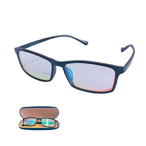 HEWYHAT Gafas daltonicos Rojo Verde Ceguera, Lentes de Resina correctiva Azul, Gafas de Sol daltónicas, Trastorno de la visión para Hombres al Aire Libre y bajo Techo