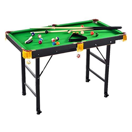 Tischbillard 47 Zoll Billardtisch, Mini-Billardtisch, Tabletop Snooker Spieleset, Geeignet für Partykinder Familienspielzimmer Unterhaltung (Color : Foldable)