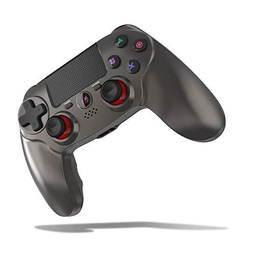 [2021年最新版] SHINEZONE PS4 コントローラー 600mAh FPS改良 Bluetooth5.0 HD振動 ゲームパット搭載 高耐久ボタン イヤホンジャック スピーカー DUALSHOCK 4用 PS3 コントローラー(灰)