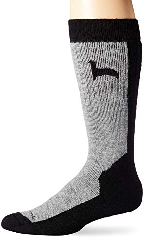 Peruvian Link Alpaca Hiker Socks Treated With Aloe Vera - Moisture Wicking and Super Soft (Extra Large) ,Black and Grey